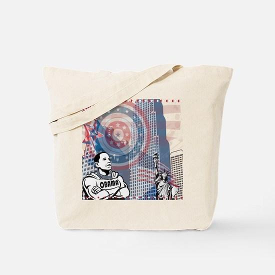 Super Obama - Patriotic white Tote Bag