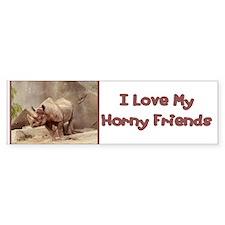Horny Friends Bumper Bumper Sticker