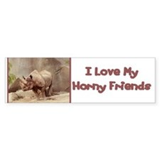 Horny Friends Bumper Car Sticker