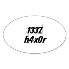 1337 h4x0r Oval Decal