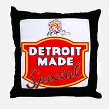 Detroit Made Special Throw Pillow