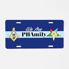 Prince Hall Mason - OES Aluminum License Plate