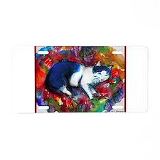 Cat, Colorful, Aluminum License Plate