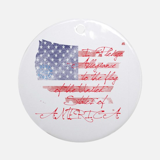 PLEDGE OF ALLEGIANCE Ornament (Round)