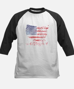 PLEDGE OF ALLEGIANCE Kids Baseball Jersey