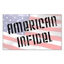 """American Infidel"" Rectangle Decal"