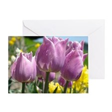 Tulip Flowers Spring Floral Greeting Card
