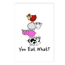 You Eat What Postcards (Package of 8)