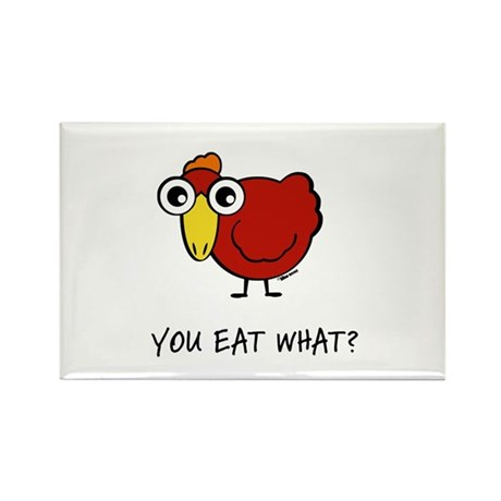YOU EAT WHAT? CHICKEN Rectangle Magnet