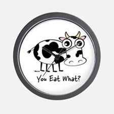 YOU EAT WHAT? COW Wall Clock