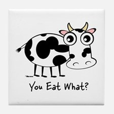 YOU EAT WHAT? COW Tile Coaster