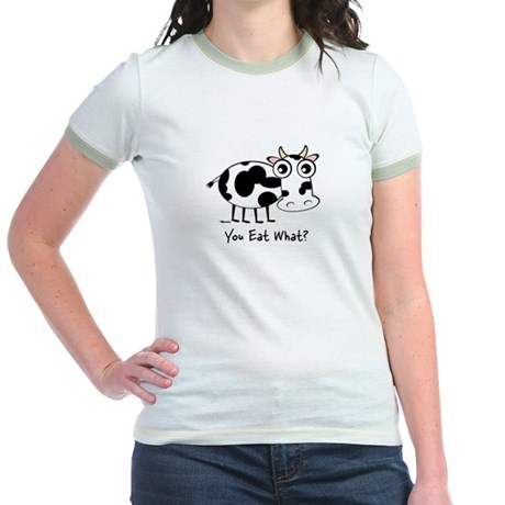 YOU EAT WHAT? COW Jr. Ringer T-Shirt