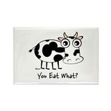 YOU EAT WHAT? COW Rectangle Magnet (10 pack)