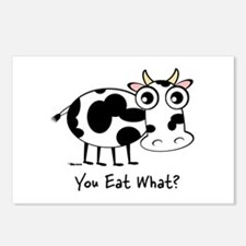YOU EAT WHAT? COW Postcards (Package of 8)