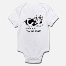 YOU EAT WHAT? COW Infant Bodysuit