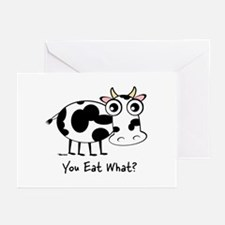 YOU EAT WHAT? COW Greeting Cards (Pk of 10)