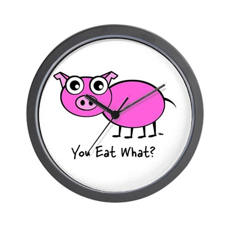 YOU EAT WHAT? PIG Wall Clock