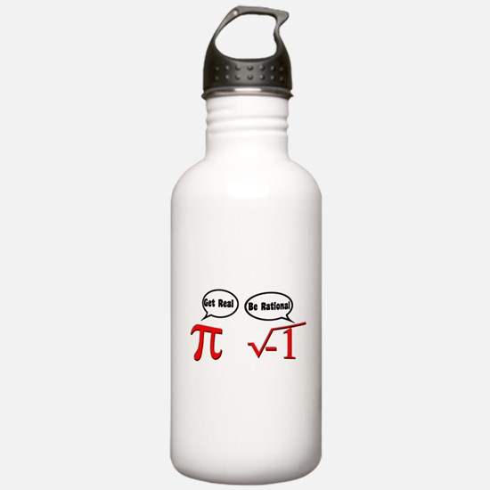 Get Real, Be Rational Water Bottle