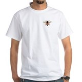Honey bee Mens White T-shirts