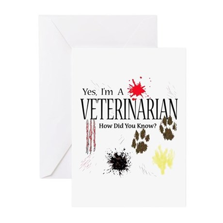 Yes I'm A Veterinarian Greeting Cards (Pk of 20)