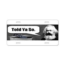 Karl marx Aluminum License Plate