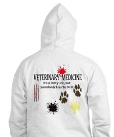 Vet Med It's A Dirty Job! Jumper Hoody