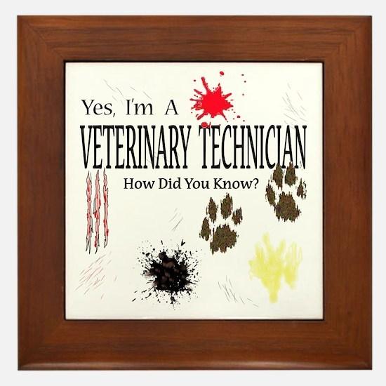 Yes I'm A Veterinary Technician Framed Tile