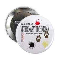 "Yes I'm A Veterinary Technician 2.25"" Button (10 p"