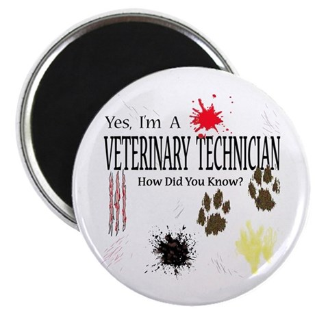 """Yes I'm A Veterinary Technician 2.25"""" Magnet (100"""