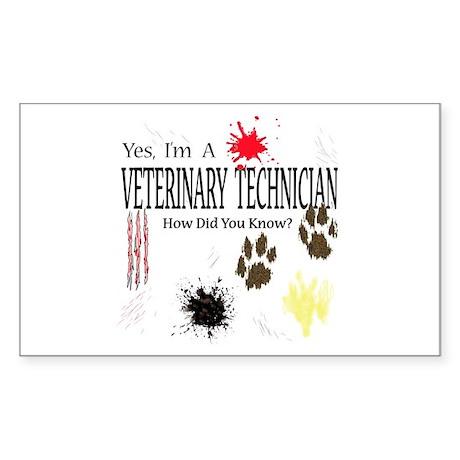 Yes I'm A Veterinary Technician Sticker (Rectangle