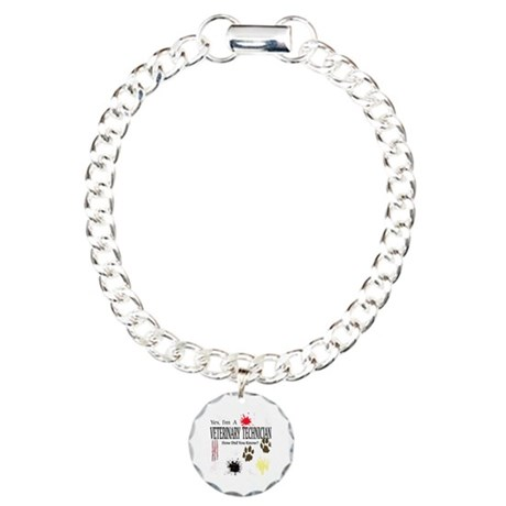 Yes I'm A Veterinary Technician Charm Bracelet, On