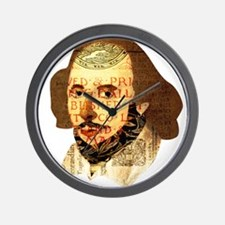 Modern Shakespeare Wall Clock