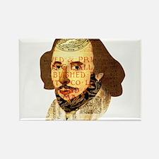 Modern Shakespeare Rectangle Magnet