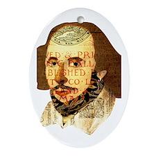 Modern Shakespeare Ornament (Oval)