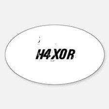 H4X0R Oval Decal