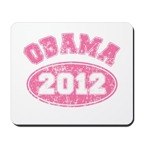 OBAMA 2012 Pink Faded Mousepad