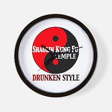 Drunken style Wall Clock