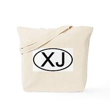 XJ - Initial Oval Tote Bag