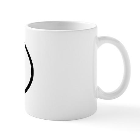 XJ - Initial Oval Mug