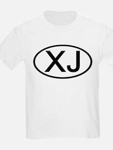 XJ - Initial Oval Kids T-Shirt