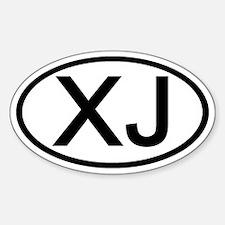 XJ - Initial Oval Oval Stickers
