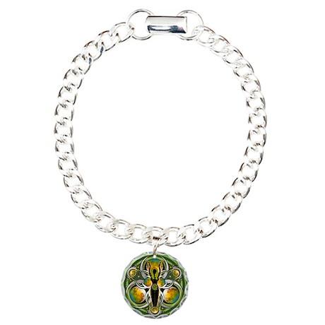 Goddess of the Green Moon Charm Bracelet, One Char