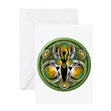Goddess of the Green Moon Greeting Card