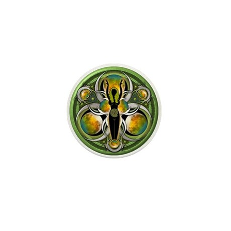Goddess of the Green Moon Mini Button