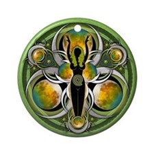 Goddess of the Green Moon Ornament (Round)