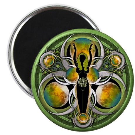 "Goddess of the Green Moon 2.25"" Magnet (10 pa"
