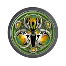 Goddess of the Green Moon Wall Clock
