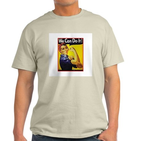 Rosie the Riveter Ash Grey T-Shirt