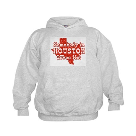 Somebody in Houston Loves Me! Kids Hoodie