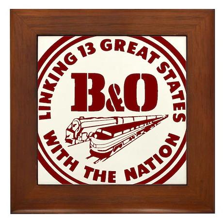 B&O 13 states logo Framed Tile